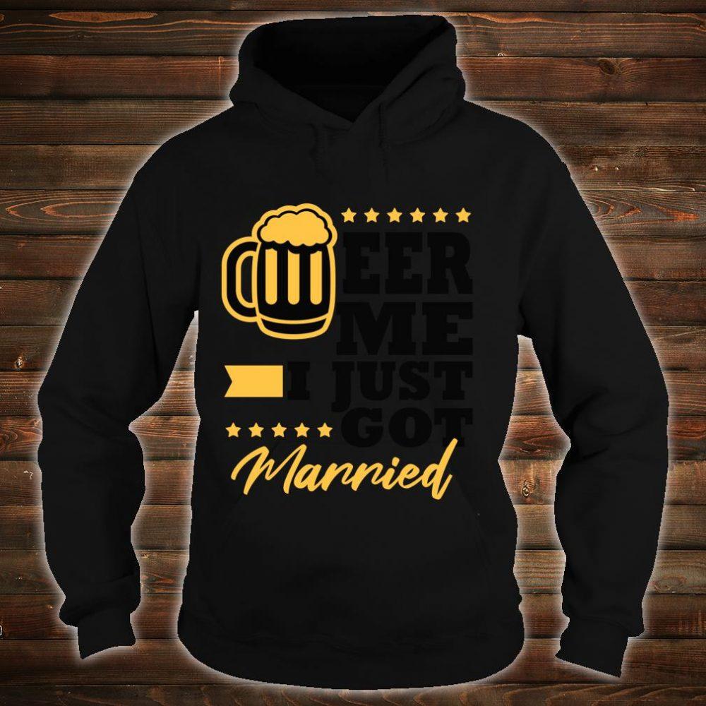 New Husband Wife Gag Bachelor Party Beer Me Shirt hoodie