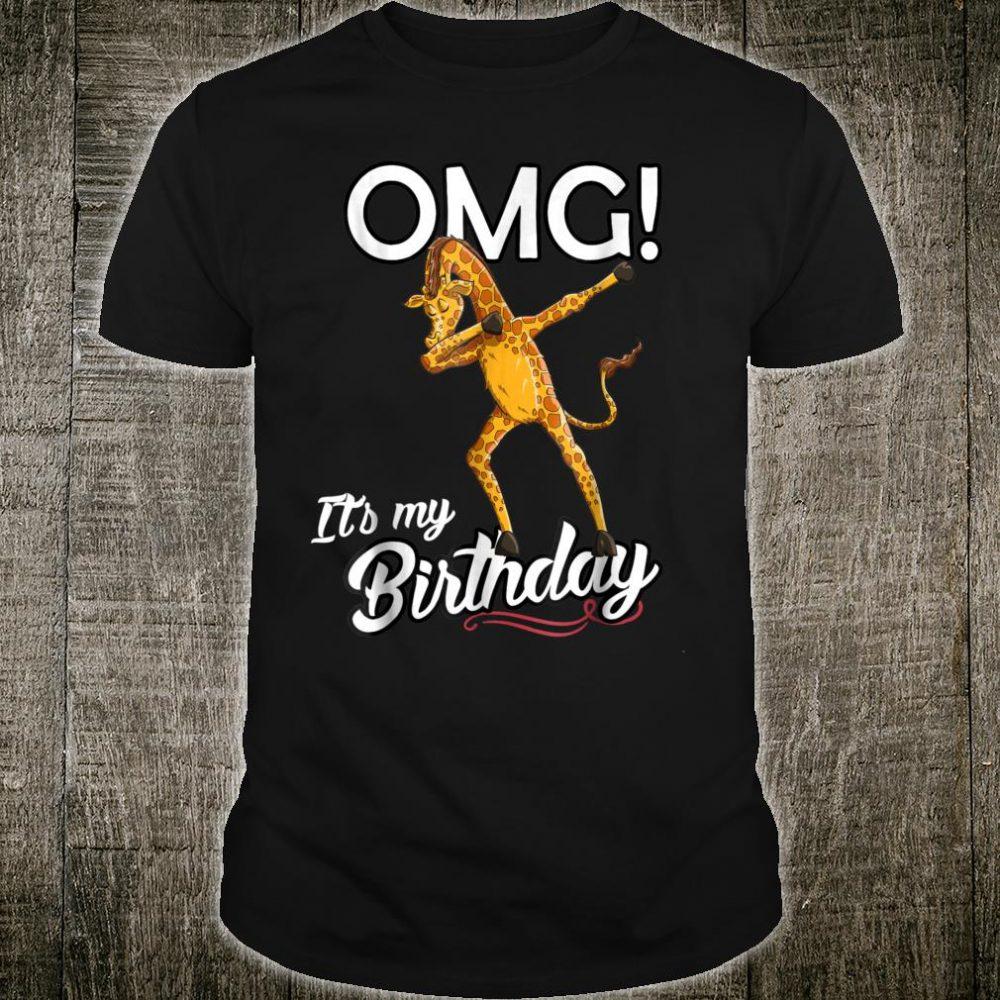 OMG It's My Birthday Dabbing Giraffe Dab Dance Shirt