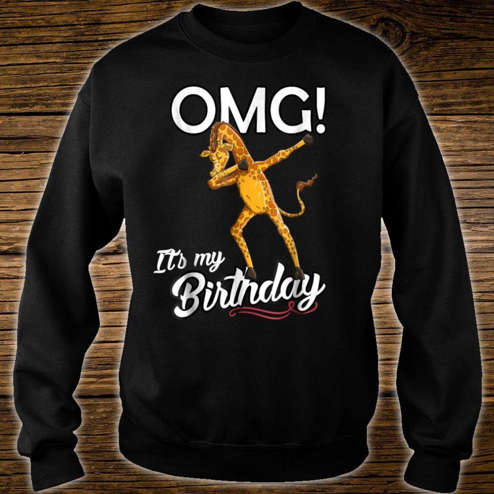OMG It's My Birthday Dabbing Giraffe Dab Dance Shirt sweater