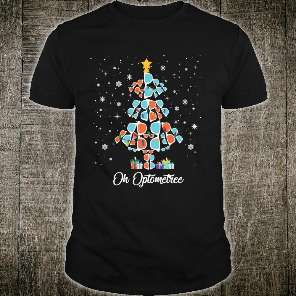 Oh Optometree Optometrist Christmas Tree Optician Shirt