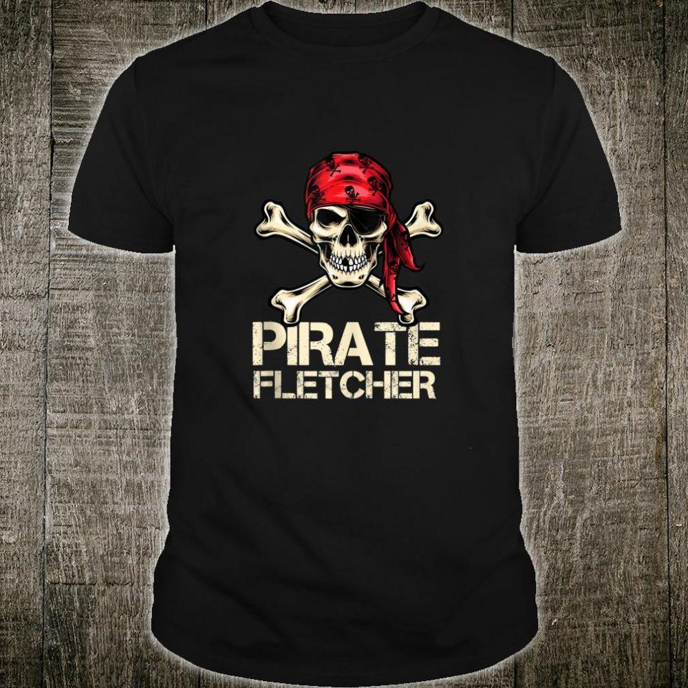 PIRATE FLETCHER Birthday Personalized Name Boat Shirt
