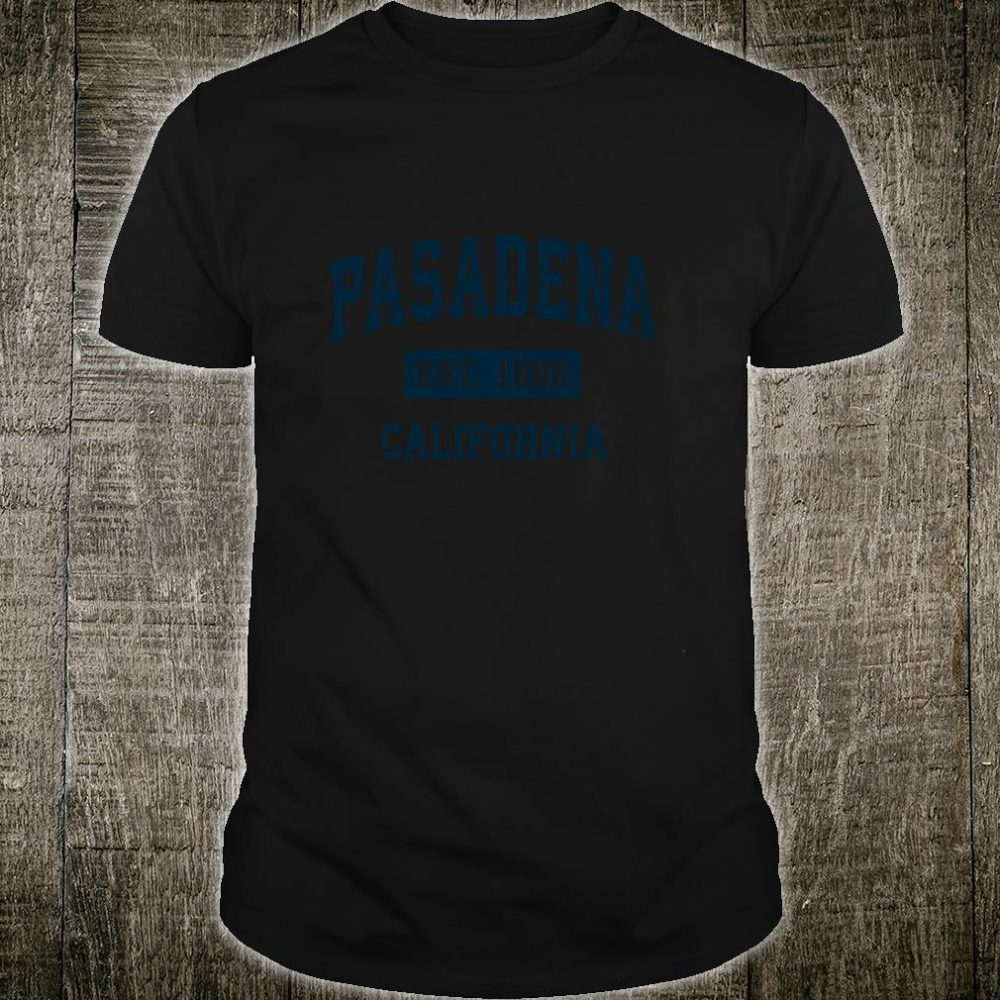Pasadena California CA Vintage Sports Design Navy Print Shirt