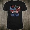 Patriotic God, Guts, and Pickleball with American Flag Shirt