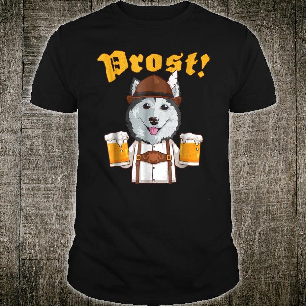Prost Siberian Husky Lederhosen Dog Beer Shirt