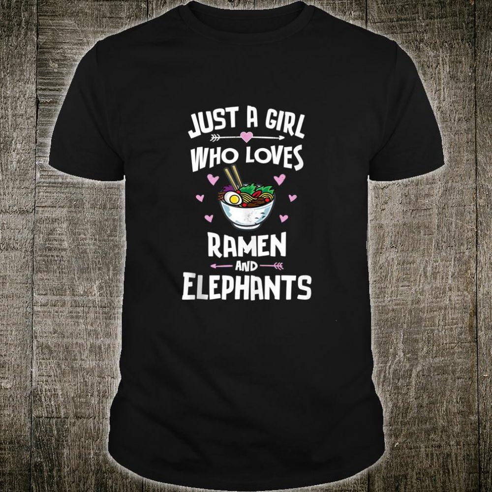 Ramen And Elephants Anime for Girls Shirt