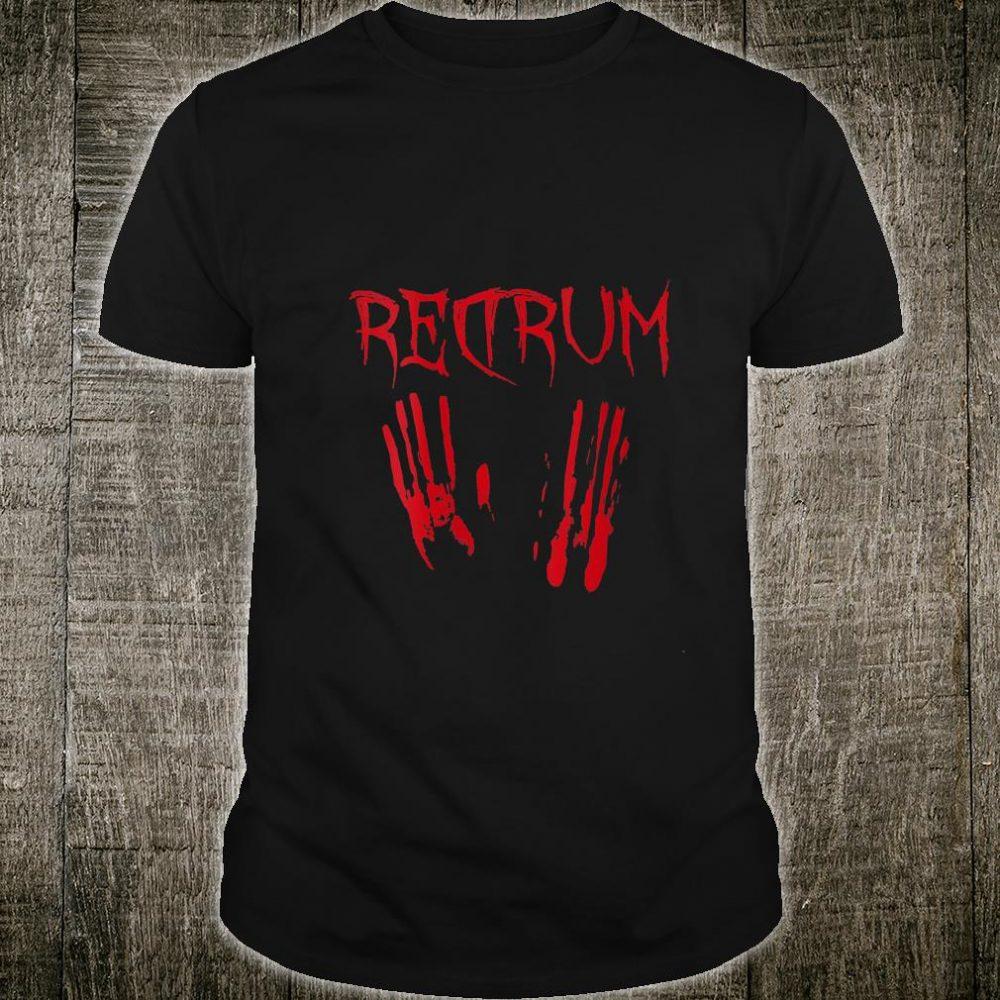 Redrum Halloween Bloody Creepy Vintage Horror Movie Shirt