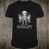 Skeleton Dead Lift Halloween Lifting Weights Shirt