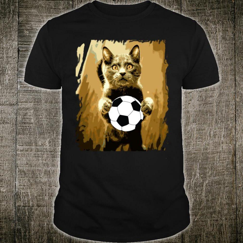 Soccer Ball Soccer Player Cat Girl boy Shirt