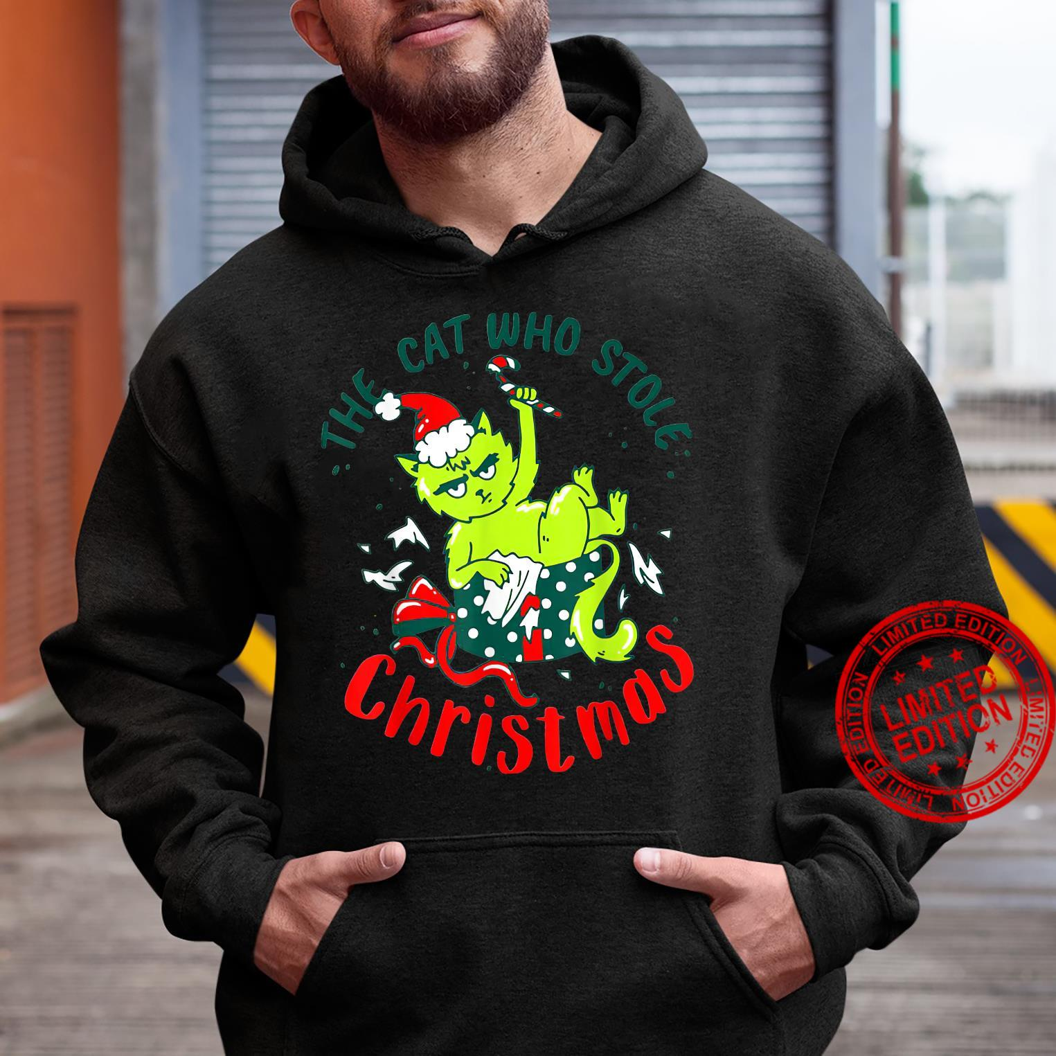 The Cat Who Stole Christmas Holiday Shirt hoodie