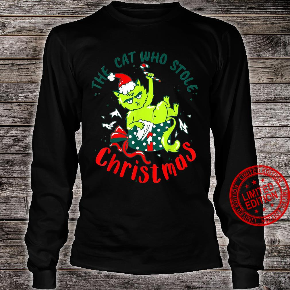 The Cat Who Stole Christmas Holiday Shirt long sleeved