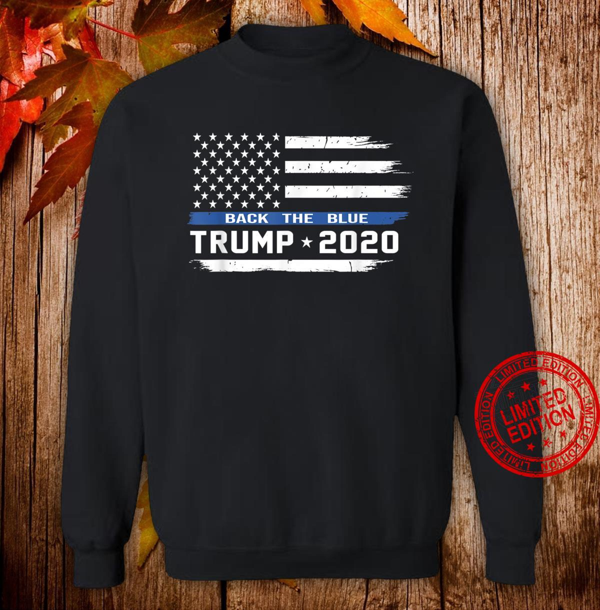 Trump Thin Blue Line US Flag, Police Trump back the blue Shirt sweater