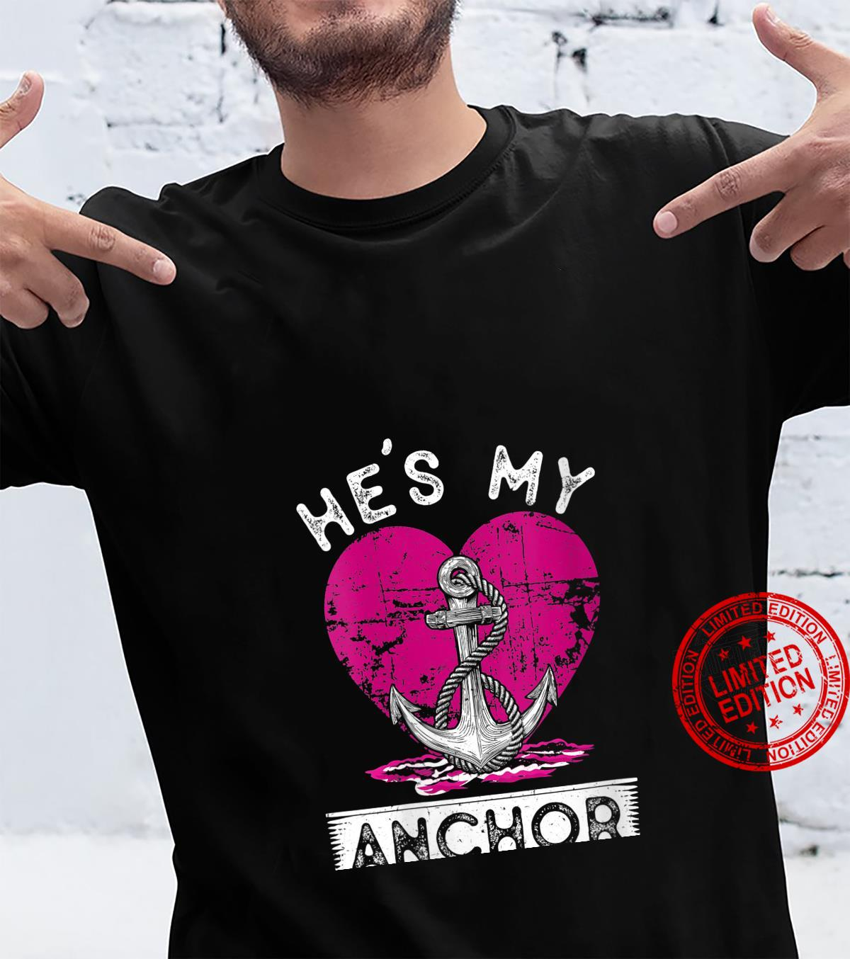 Womens Matching Couple Outfit He's My Anchor She's My Sail Shirt