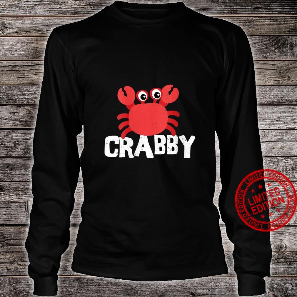 Womens Seafood Crabby Crab Shirt long sleeved