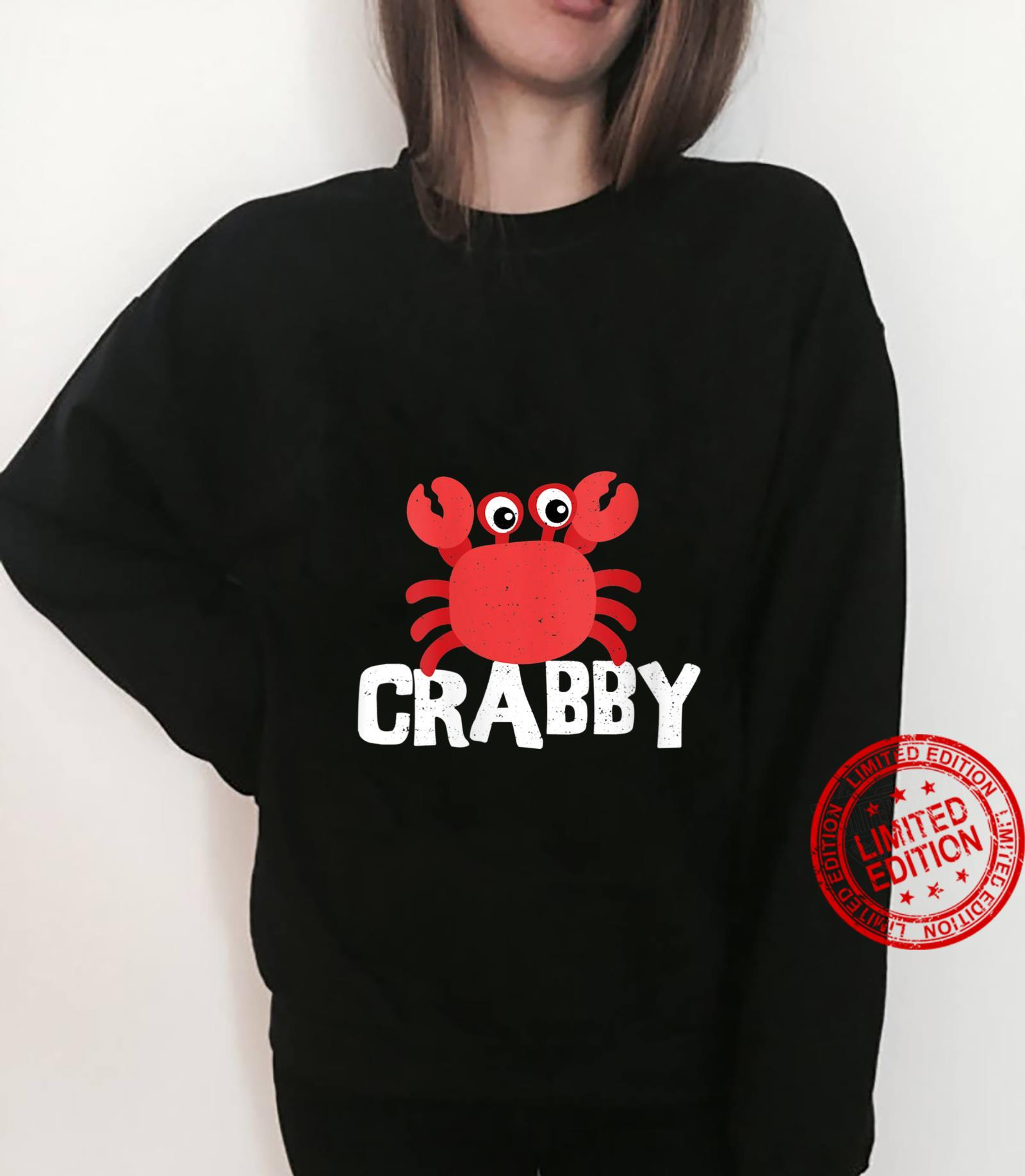 Womens Seafood Crabby Crab Shirt sweater